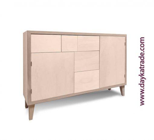 Mueble de madera - Aparador Cajones y puerta - Manualidades Dayka Lateral