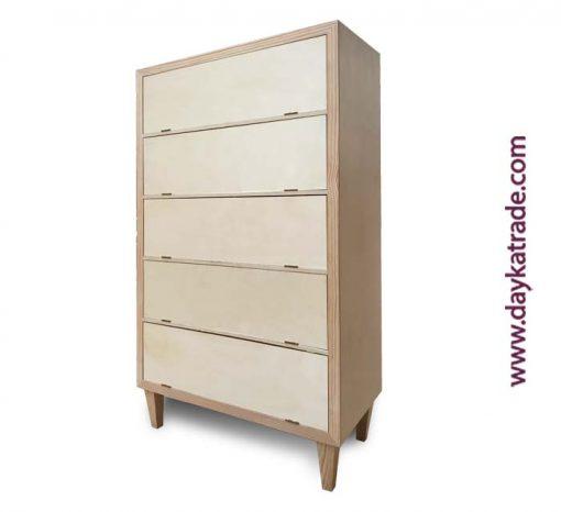 Mueble zapatero 5 cajones madera - Manualidades Dayka Lateral