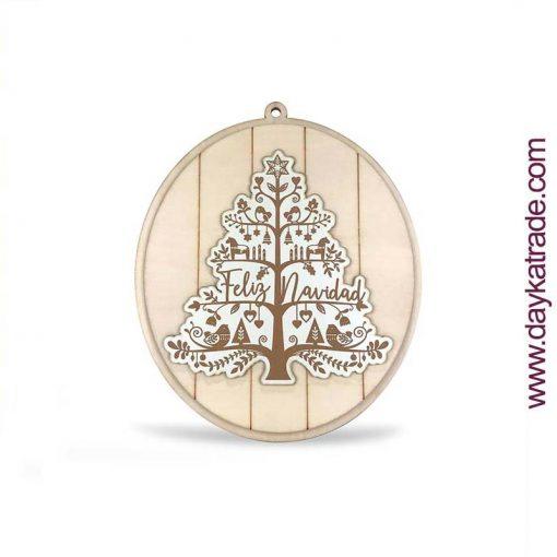 Cartel madera Navidad - arbol de Navidad DIY Manualidades Dayka Trade