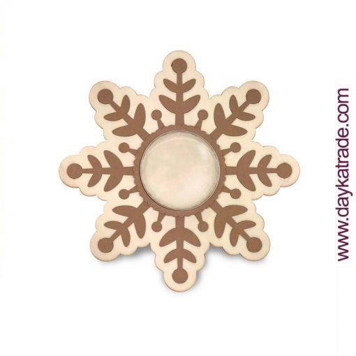 Shaker estrella de navidad - Copo de Navidad madera manualidades