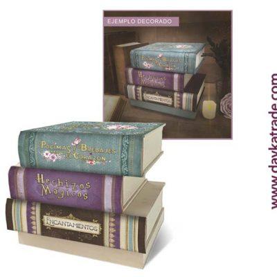 Cajonera libros hechizos magicos . manualidades decoración Dayka