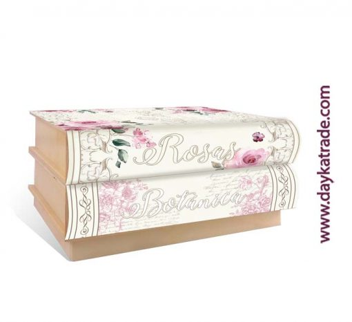 Caja sorpresa libro - Manualidades rosas y flores - Botanica cajonera
