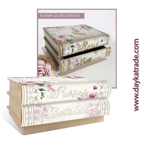 Cajonera rosas botanica - Manualidades Dayka Trade