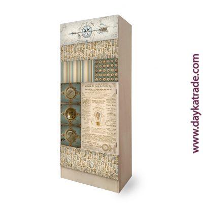 Mueble cajonera decorado - telas textil - Decoración manualidades
