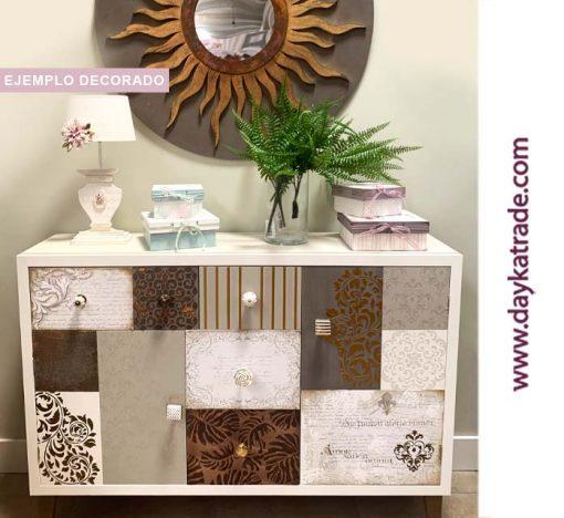 Mueble decoración vintage - Papeles decorados Dayka Trade Diseño decorado