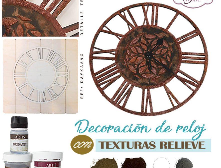 Reloj con texturas Dayka
